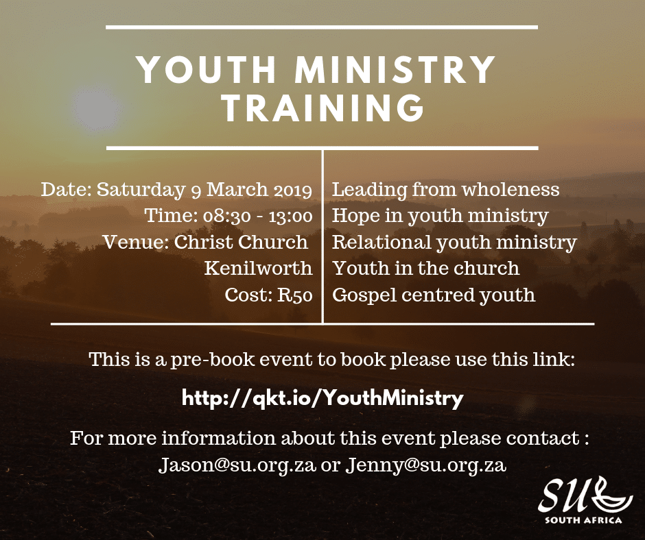 Youth Ministy Training March 2019